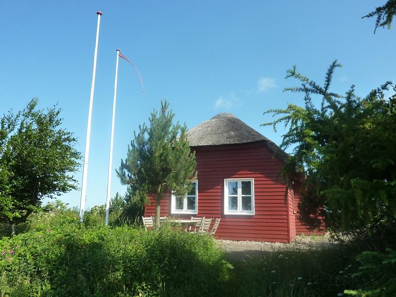 Det røde sommerhus ved Karup Å